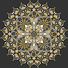 Vektor Cliparts: rundes goldenes Muster