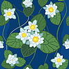 Vector clipart: seamless pattern of white lotus
