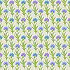 Векторный клипарт: бесшовный цветочный узор с васильками