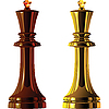 Vector clipart: chess pieces, black and white king