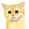 Векторный клипарт: эскиз милый сирень британский котенок