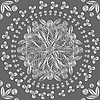 Vector clipart: seamless floral lace white pattern