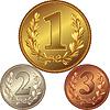 Satz von Gold-, Silber-und Bronzemedaillen
