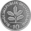 Germany Money silver coin with Oak Leaves