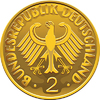Germany Money gold coin with heraldic eagle