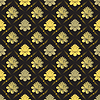 Vector clipart: seamless gold floral pattern