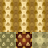 Vector clipart: gold and silver seamless floral pattern