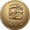 Vector clipart: Mexican coin with the Indian