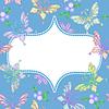 цветочная рамка кружева с бабочками