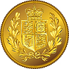 Vector clipart: British Sovereign coin with coat of arms