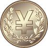 Silver Money Yuan or Yen coin   Stock Vector Graphics