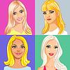 Векторный клипарт: Четыре молодых красивых улыбающихся девушки