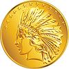 Amerikanisches Geld Goldmünze Dollar