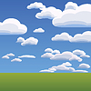 Vector clipart: of clouds on blue sky
