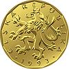 золотые деньги двадцать чешских крон монеты