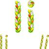 Векторный клипарт: шрифт письмо, которое я сделал цветка тюльпана