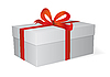 Vector clipart: box with red bow