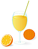Vector clipart: Orange juice in the glass
