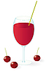 Vector clipart: Cherry juice in the glass