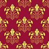 Vector clipart: Seamless gold red background