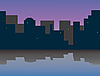 Vector clipart: morning city