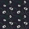 Vector clipart: Flower seamless dark background