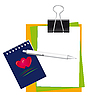Vector clipart: Stationery for office and school