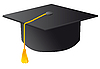 Vector clipart: black student graduation hat