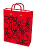 Vector clipart: Red paper bag