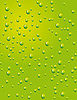 Vector clipart: Seamless green background with water drops