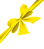 Vector clipart: Bow of yellow ribbon