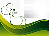 Abstract green background with flower