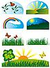 Vector clipart: nature design set