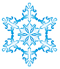 Vector clipart: One snowflake on white background