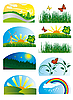 Vector clipart: Set of nature elements