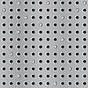 Vector clipart: Metal seamless background with perforation