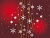 Векторный клипарт: красный новогодний фон со снежинками