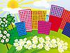 Векторный клипарт: Солнечный город среди цветов