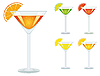 Vector clipart: A set of drinks in glasses