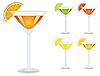 Векторный клипарт: Набор напитков в очки
