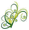 Vector clipart: Abstract bouquet of green curls
