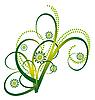 Векторный клипарт: Аннотация букет зеленых кудрей