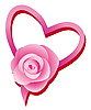 Vector clipart: Love`s heart and rose