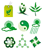 Vector clipart: Set of elements of nature