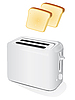 Vector clipart: Plastic electric toaster with toast