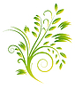 Vector clipart: Abstract bouquet of green curls. Vector illustration