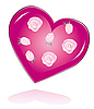 Vector clipart: Roses and heart for the beloved