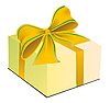 Vector clipart: Gift box with bow