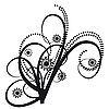 Векторный клипарт: Татуировки в виде абстрактных букет