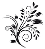 Vector clipart: Tattoos in the form of an abstract bouquet